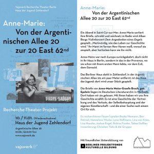 """""""Anne Marie: Von der Argentinischen Allee 20zur 20 East 62nd"""