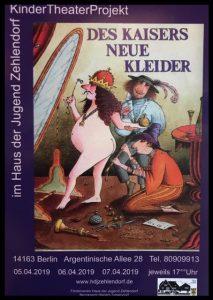 Das Kindertheater präsentiert - Des Kaisers neue Kleider @ Haus der Jugend Zehlendorf
